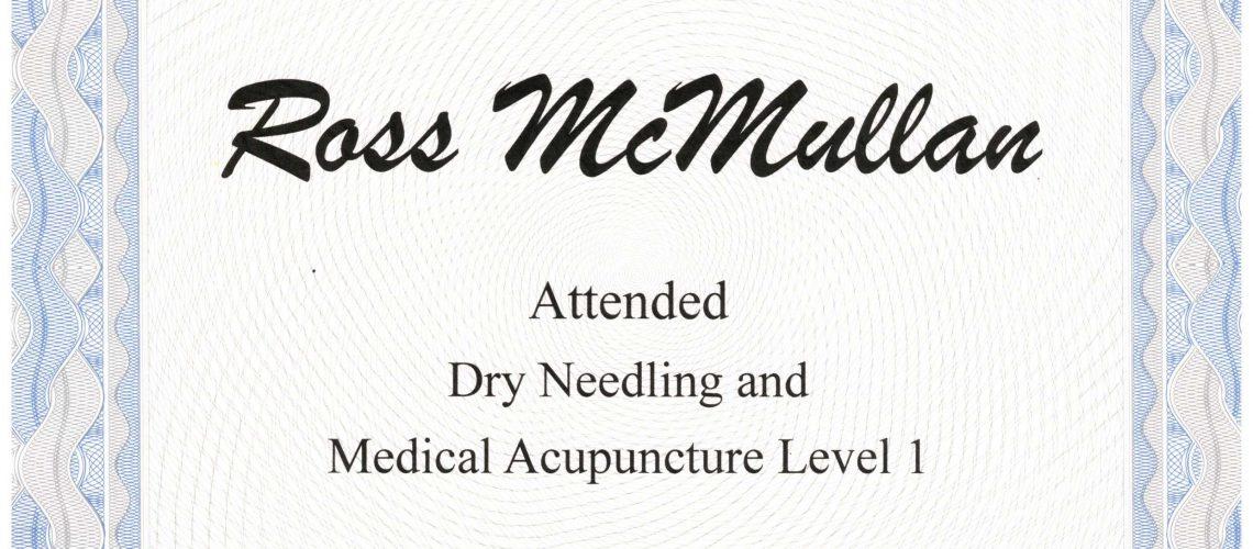 Medical Acupuncture Level 1